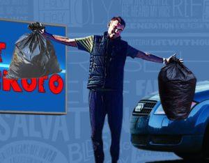 Уборка мусора в Запрудном