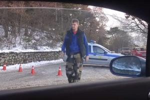 Снег в Крыму - дорога на Ай-Петри закрыта